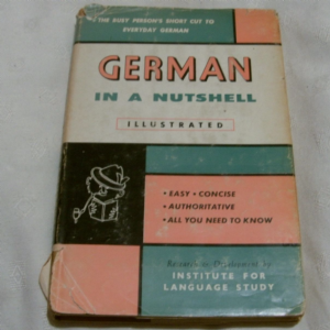 German in a Nutshell Illustrated old book ILS